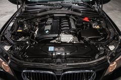 Новосибирск, Россия - 19-ое февраля 2019: BMW X5 стоковые фото