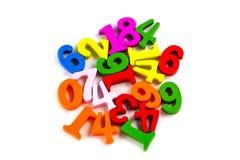 Номер математики красочный на белой предпосылке: Учить математики образования стоковые фото