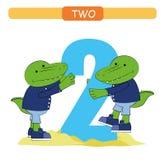 2 Номер собрания для детского сада и preschool Выучите 2 облегчения иллюстрация штока