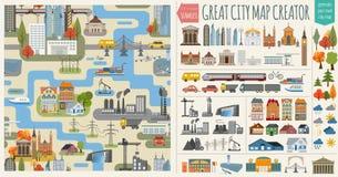 Основные RGBGreat city map creator Stock Image