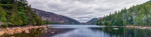 Панорамный вид национального парка Acadia стоковое изображение