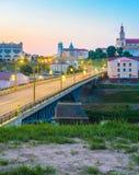 Панорамный вид центра города Grodno стоковая фотография rf
