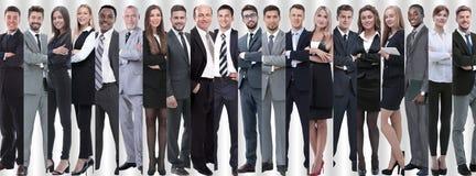 Панорамный коллаж групп в составе успешные работники стоковое фото