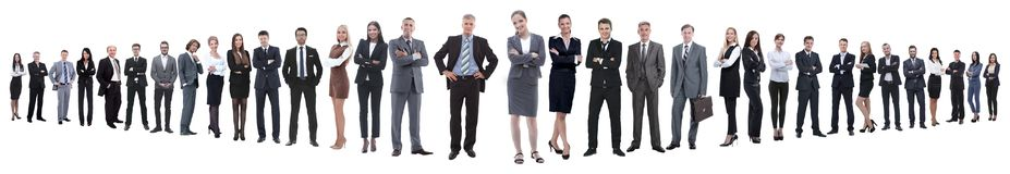 Панорамное фото группы в составе уверенные бизнесмены стоковые изображения