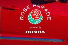 Пасадина подняла логотип парада стоковые фотографии rf