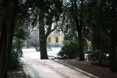 Парк. Old Park in the old town Stock Photos