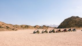 Parking in the buggy for tourists in Safari royalty free stock images