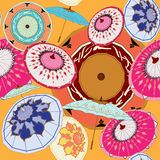 Партия зонтика в multi цветах иллюстрация вектора