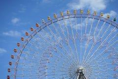 Пейзаж колеса Ferris парка где оно было отлично стоковая фотография rf