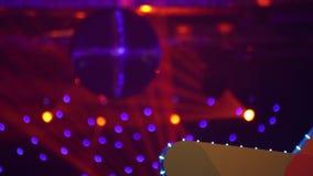 Пейзаж диско Светильники шарика диско согласие место сток-видео