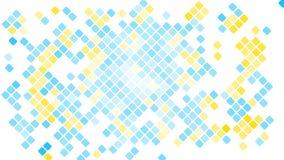 Пестротканая абстрактная предпосылка голубых квадратов, косоугольников, плиток прямоугольников, мозаики со швами накаляя волшебно иллюстрация штока