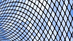Пестротканая абстрактная предпосылка голубых квадратов, косоугольников, плиток прямоугольников, мозаики со швами накаляя волшебно иллюстрация вектора