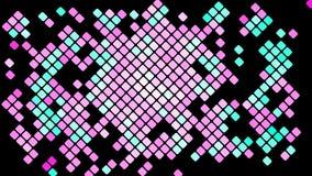 Пестротканая абстрактная предпосылка фиолетовых розовых квадратов, косоугольников, плиток прямоугольников, мозаики иллюстрация штока