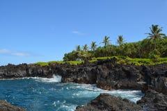 Пешая тропа Мауи береговой линии Гаваи стоковое фото