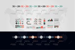 Timeline vector infographic. World map stock photography