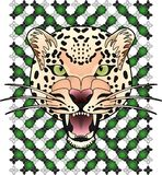 Leopard panthera with background royalty free illustration