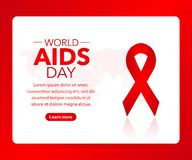 World AIDS Day. 1st December World Aids Day poster. Vector illustration. World AIDS Day. 1st December World Aids Day poster. Vector stock illustration stock illustration