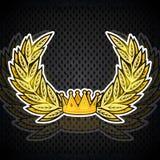 Golden wreath from the crown. Heraldic background for any sport elements. Golden wreath from the crown. Heraldic background for any sport vector illustration