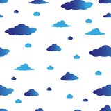 Blue vector seamless cover with clouds royalty free illustration
