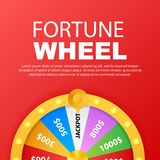 Roulette 3d fortune. Wheel fortune for game and win jackpot. Online casino concept. Internet casino marketing. royalty free illustration