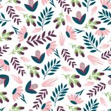 Seamless colourful floral pattern. Wrapping paper.Печать stock illustration