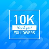 10000 followers, Thank You, social sites post. Thank you followers congratulation card. Vector illustration. 10000 followers, Thank You, social sites post royalty free illustration
