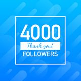 4000 followers, Thank You, social sites post. Thank you followers congratulation card. Vector illustration. 4000 followers, Thank You, social sites post. Thank royalty free illustration