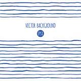 Navy blue stripes, streaks, doodle style lines border stock illustration
