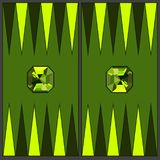 Backgammon playing field. In coloring - chrysolite. Vector graphics in flat style. royalty free illustration