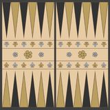 Backgammon playing field in the medieval style In shades of brown. Vector graphics in flat style. stock illustration