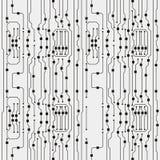 Vector circuit board illustration. Abstract circuit board background royalty free illustration