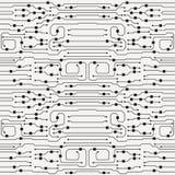 Vector circuit board illustration. Abstract circuit board background stock illustration
