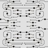 Vector circuit board illustration. Vector circuit board background. Abstract flat circuit board illustration stock illustration