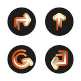 ПечатьSet of gradient signs arrows icons. Vector isolated buttons on white background. vector illustration