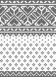 Перекрестное stich, установило безшовных картин иллюстрация вектора