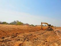 Песок и почва строительной площадки стоковая фотография