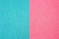 Пинк и светлое - голубые прямоугольные части войлока стоковые изображения