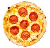 пицца pepperoni путя клиппирования изолированная изображением стоковые изображения rf