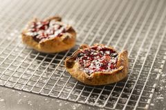 Пироги ягоды на охладительной решетке стоковое фото