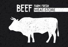 Плакат для магазина мяса палачества стоковое изображение rf