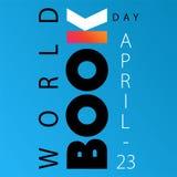 Плакат дня книги мира с книгой k aka открытой бесплатная иллюстрация