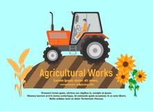 Плакат сельскохозяйственных работ иллюстрация штока