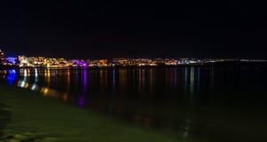 Пляжные комплексы вечером в Cabo San Lucas, Мексике, Нижней Калифорнии стоковые изображения