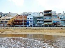 Пляж Гран-Канарии Las Palmas de стоковые изображения rf