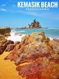 Пляж Kemasik стоковая фотография