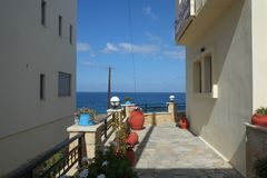 Пляж Panormo, Крит, Греция стоковое фото