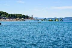 Пляж Vodice, Хорватия стоковые изображения rf