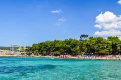Пляж Vodice, Хорватия стоковые фото