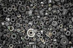 Плоские положенные крепежные детали металла стоковое фото rf