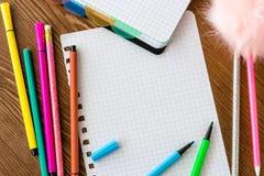 Пустая приданная квадратную форму страница с открытыми ручками чувствуемой подсказки стоковая фотография